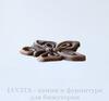 """Подвеска """"Бабочка"""" (цвет - античная медь) 15х12,5 мм"""