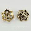 """Шапочка для бусины TierraCast """"Цветок"""" (цвет-античное золото) 12х5 мм"""