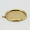Сеттинг - основа - подвеска для камеи или кабошона 18 мм (оксид латуни) ()