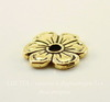 """Элемент под заклепку TierraCast """"Цветок яблони"""" 14х13 мм (цвет-античное золото)"""