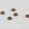 """Бусина - спейсер TierraCast """"Твист"""" (цвет-античная медь) 4х1,4 мм, 5 штук"""