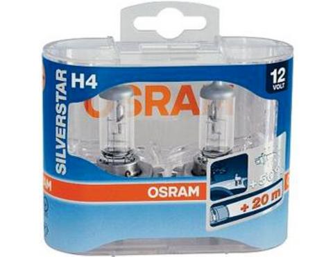 Галогенные лампы Osram H4 Silver Star + 50% света 64193 SVS