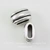 """Бусина для шнура 6х2 мм TierraCast """"Deco Barrel"""" 11х6х6 мм (цвет-античное серебро)"""