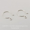 Швензы-крючки TierraCast 20х15 мм (цвет-серебро), Silver filled, пара ()