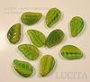 """Бусина """"Листик""""  (цвет- зеленый) 14х9 мм , 10 штук ()"""
