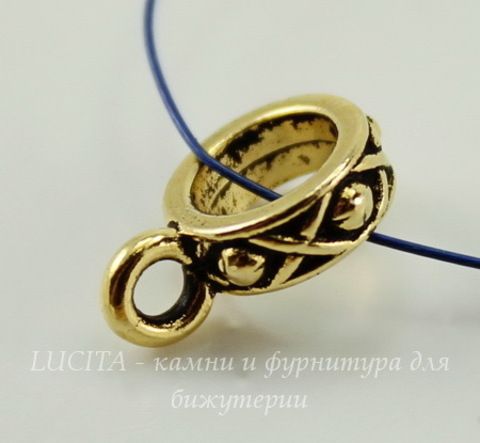 "Бейл TierraCast ""Легенда"" (цвет-античное золото) 13х4 мм"