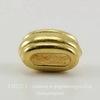 "Бусина для шнура 6х2 мм TierraCast ""Deco Barrel"" 11х6х6 мм (цвет-золото) ()"