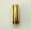 """Бусина для шнура 12х2 мм TierraCast """"Deco slide"""" (цвет-античное золото) 17х7х6 мм"""