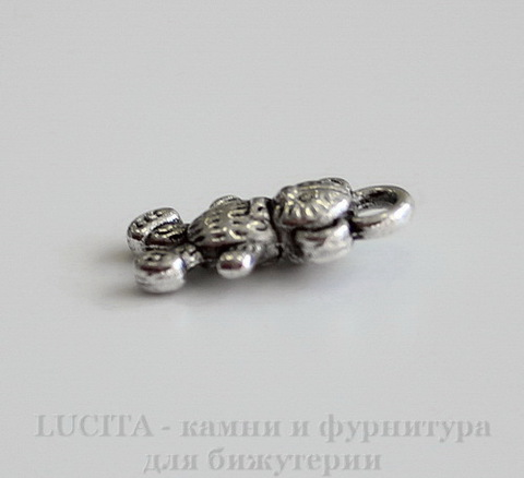 "Подвеска ""Мишка"" 16х9 мм (цвет - античное серебро)"