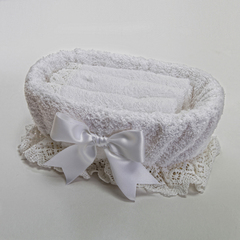 Набор полотенец 3 шт Old Florence Rombetti и корзинка белый
