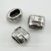 Бусина для шнура 4х2 мм TierraCast 7х5х5 мм (цвет-античное серебро) ()