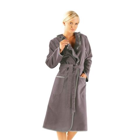 Элитный халат велюровый 4318 коричневый от Cawo