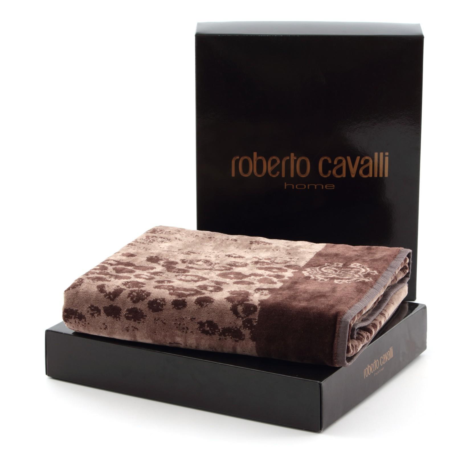 Полотенца Полотенце 95х150 Roberto Cavalli Giaguaro коричневое elitnye-polotentsa-velyurovye-giaguaro-korichnevye-ot-roberto-cavalli-italiya-vid-s-upakovkoy.jpg