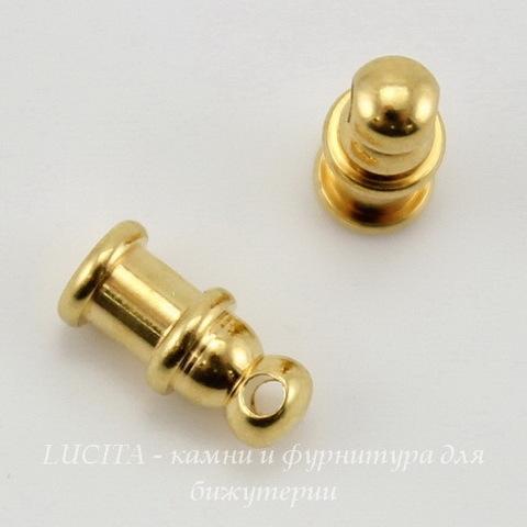 "Концевик для шнура 2 мм TierraCast ""Pagoda"" (цвет-золото) 10х4 мм"