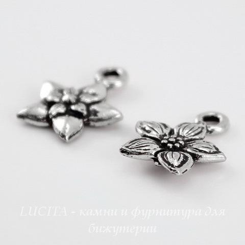 "Подвеска TierraCast ""Жасмин"" (цвет-античное серебро) 14х12 мм ()"