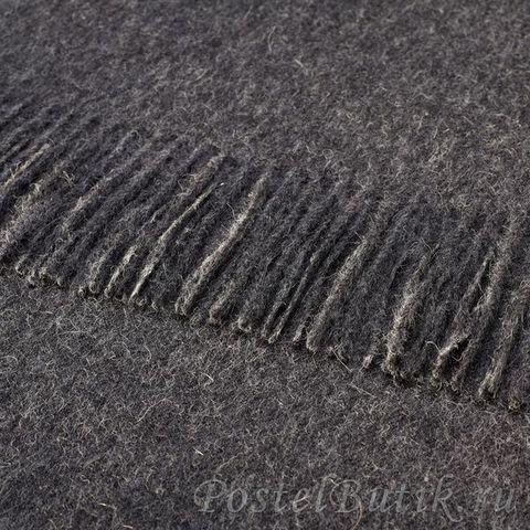 Элитный плед шерстяной Alpaca Charcoal от Bronte