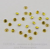 Стразы ювелирные (цвет - желтый) 2,2 мм, 10 шт