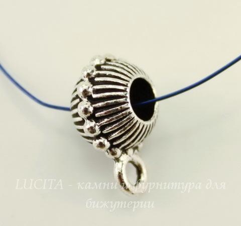 "Бейл TierraCast ""Царский"" (цвет-античное серебро) 15х8 мм"