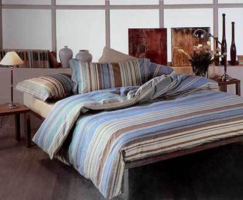 Постельное белье 2 спальное Caleffi Texture синее