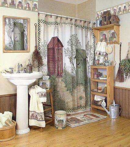 Элитная шторка для ванной Outhouses от Avanti