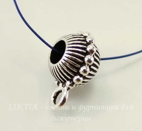 "Бейл TierraCast ""Царский"" 15х8 мм (цвет-античное серебро)"