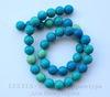 Бусина Хризоколла (тониров), шарик, цвет - зелено-голубой, 10 мм, нить ()