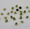 Стразы ювелирные (цвет - оливковый) 2 мм, 10 шт