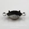 Сеттинг - основа - коннектор (1-1) для страза 10х5 мм (оксид серебра) ()