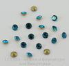 Стразы ювелирные (цвет - морская волна) 2,2 мм, 10 шт