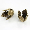 Винтажный декоративный элемент - шапочка 13х10 мм (оксид латуни) ()