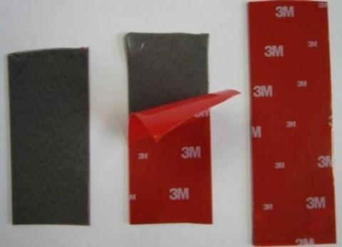 Скотч 3М TAPE 14мм х 10м красная подложка
