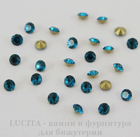 Стразы ювелирные (цвет - морская волна) 2,4 мм, 10 шт