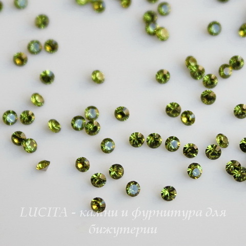 1028 Стразы Сваровски Olivine PP 6 (1,3-1,35 мм), 20 штук ()
