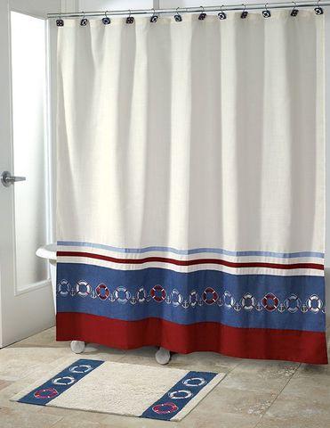 Элитная шторка для ванной детская Life Preserves от Avanti
