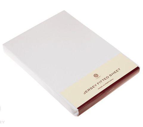 Элитная простыня (Т) Трикотаж Джерси белая от Luxberry