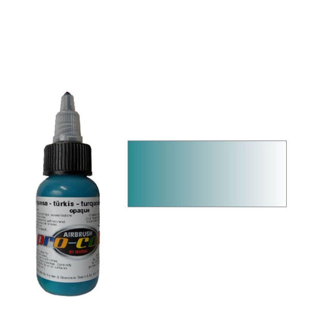 60019 Краска для аэрографии Pro-Color Turquoise (БИРЮЗОВЫЙ) 30мл. укрывистый