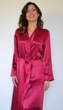 Шелковый халат бордового цвета B&B