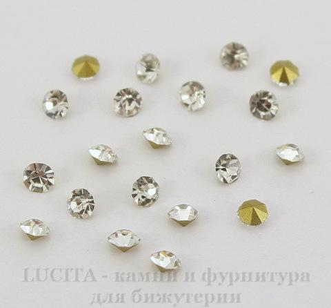 Стразы ювелирные (цвет - прозрачный) 3 мм, 10 шт ()