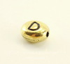 """Бусина овальная TierraCast """"Буква D"""" 7х6х3 мм (цвет-античное золото)"""