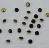 Стразы ювелирные (цвет - черный) 2,2 мм, 10 шт