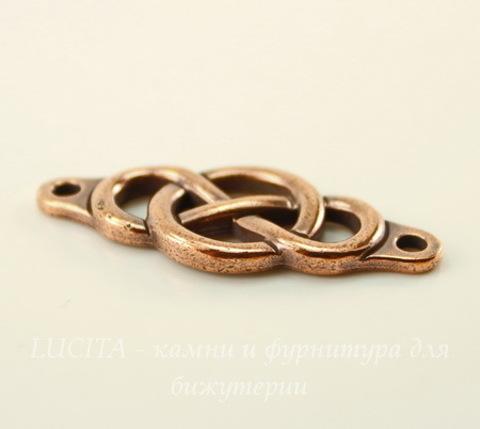 """Коннектор TierraCast """"Infinity Сenterpiece"""" (1-1) 35х15 мм (цвет-античная медь)"""