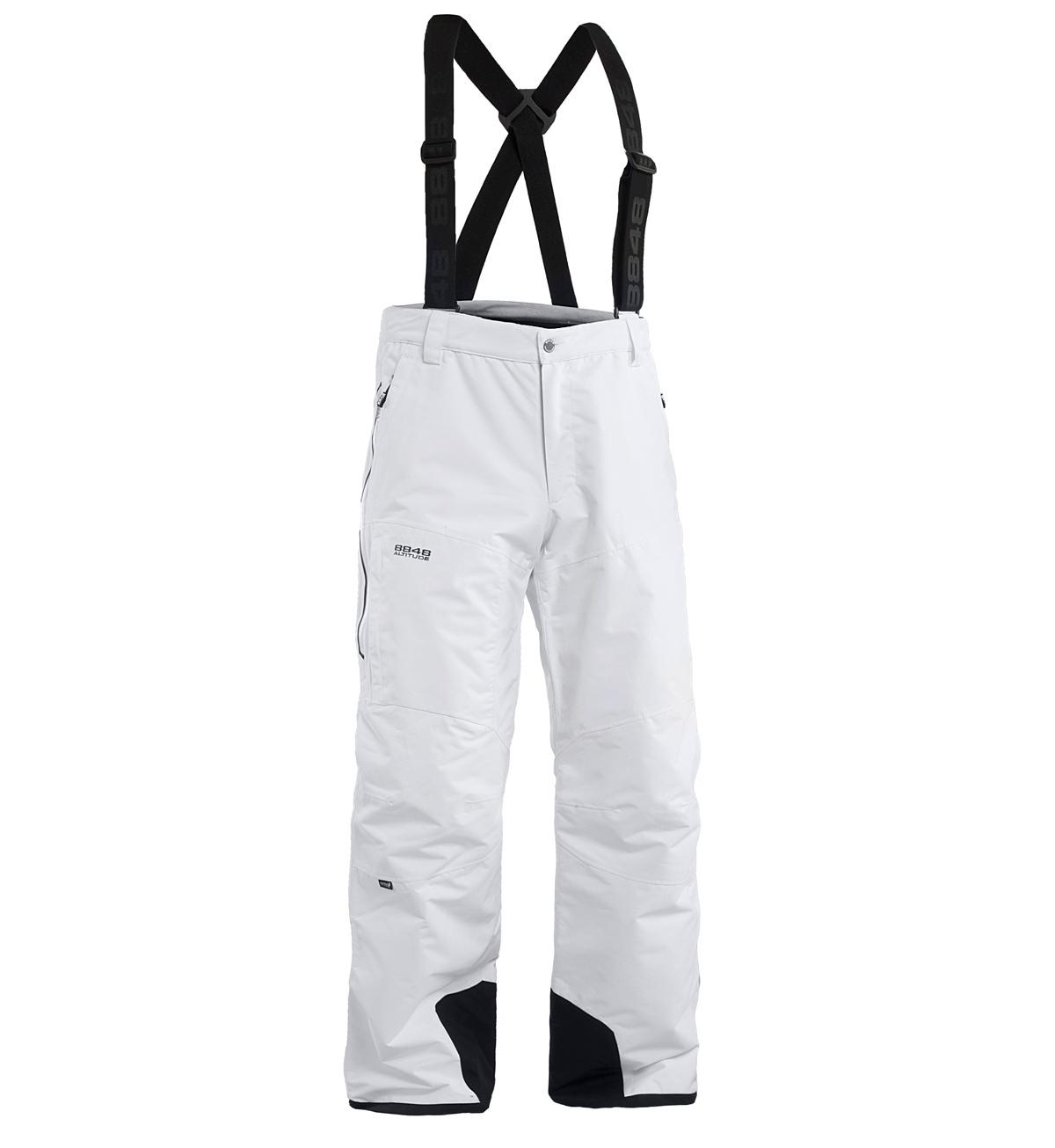 Мужские горнолыжные брюки 8848 Altitude ZIG White (773552)