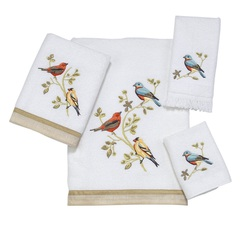 Полотенце 41х76 Avanti Gilded Birds белое