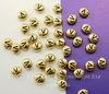 """Бусина овальная TierraCast """"Буква V"""" (цвет-античное золото) 7х6х3 мм"""