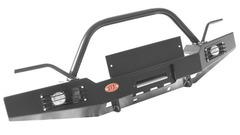 Передний силовой бампер OJ с не полной дугой (под лифт), доп. оборудование