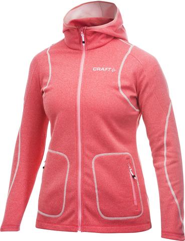 Толстовка Craft Active Hood Zip женская розовая