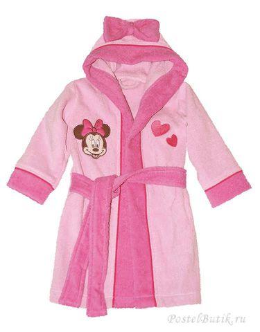 Элитный халат детский махровый Minnie Girl от Caleffi
