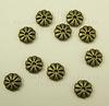 Бусина металлическая - рондель (цвет - античная бронза) 7х2 мм, 10 штук ()