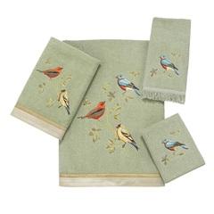 Полотенце 28х46 Avanti Gilded Birds зеленое