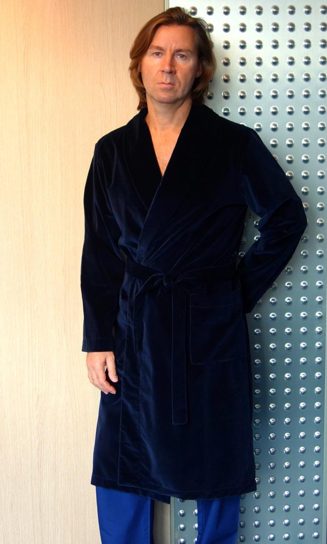 Велюровый мужской халат B&B (Мужские халаты)